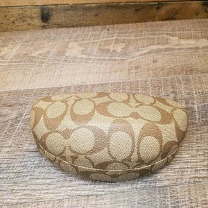 Coach Clamshell Sunglass Case with Cleaning Cloth